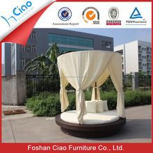 Burable outdoor rattan furniture bed design rattan bed