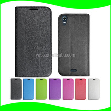 New products fancy leather case flip cover slim suction cup PC hard shell PU leather mobile phone for Wiko rainbow up