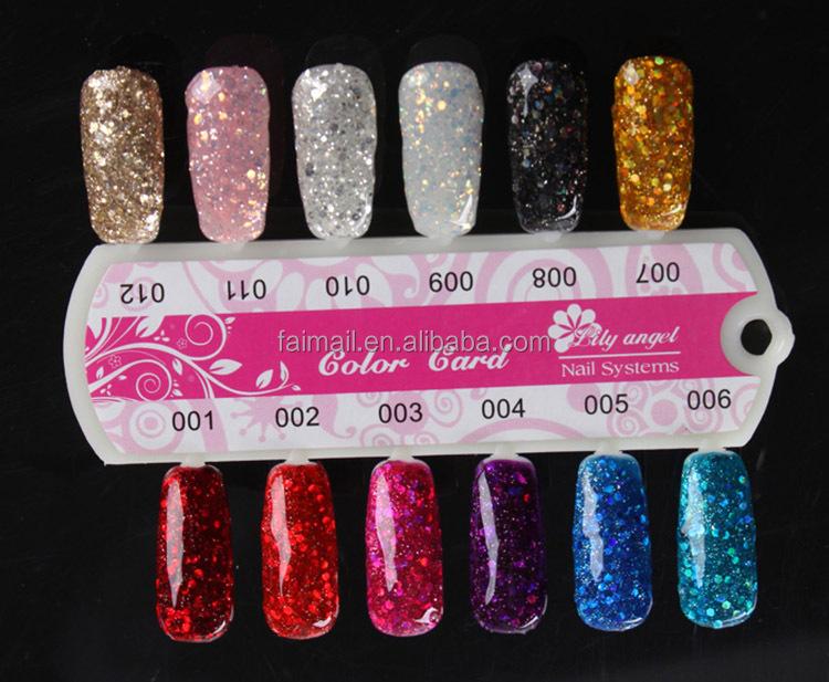 Big Glitter Shimmer UV Builder Gel Nail Art Deco Set Kit Cream Women ...