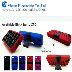 China factory cheap Mobile phone stand case for blackberry Q10