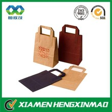 Thin food grade craft paper bag with flate handle