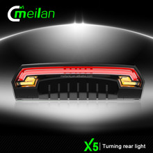 Hot laser lights Bicycle LED bulk buy from China meilan X5 Bike led usb light turn signals lights stop supplier