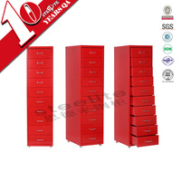 Wholesale 10 drawer metal file cabinet / freestanding vertical sliding many small drawers cabinets