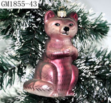 New products Christams decoration 3d glass figurines