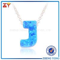 Opal Letter Jewelry,Gemstone Jewelry Necklace,Letter Opal Necklace