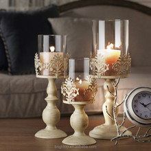 wholesale european glass candlestick,crackle crystal cut long-stemmed martini glass candle holder