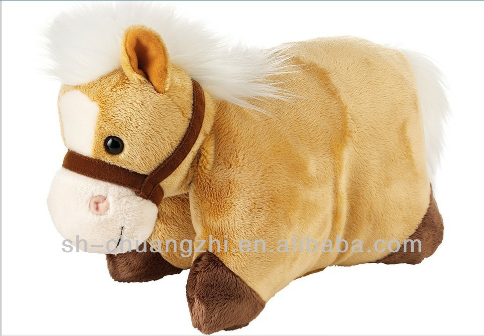Animal Folding Pillows : Horse Shaped Folding Plush Pillow Pet - Buy Horse Shaped Plush Animal Pillow Pet,Plush Animal ...