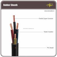 450/750V EPR insulated Neoprene sheath flexible HO7RN-F/Rubber cable VDE