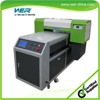 A1 uv printer with ball screw drive system/air sucking platform/auto white ink cycling, uv flatbed printer A1 size