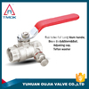 Casting iron handle BSP thread brass material psi 600 middle pressure hot sell top quality brass ball valve/stop valve