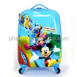 light weight hard shell cartoon luggage for kid