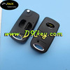 Topbest 2 buttons flip key blank for corolla for blank key blank cover for toyota corolla with Toy43 blade