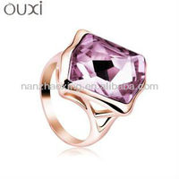 OUXI Fashion dubai wedding rings jewelry made with Swarovski Elements