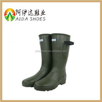 2015 High Quality Waterproof Manufacturer Dark Green Fishing Rubber Rain Boots