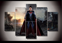 High Quality Movie Cartoon Star The Hero Superman Oil Painting For Wall Painting