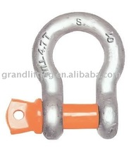 AS2741 grade s bow shackle with screw pins