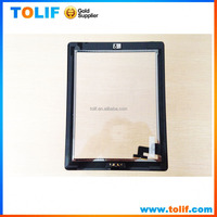 Original touch screen digitizer glass panel with button and tape adhesives for ipad 2/3/4 for ipad air 1/2 lcd touch digitizer