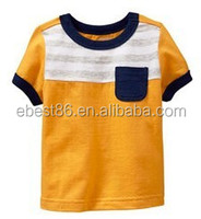 In-Stock Wholesale Boy T Shirts 100% Cotton Comfortable Kids Tees Casual Children Top Tees with Pockets