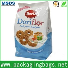 side gusset plastic bag for cookies design printing/cookies packaging bag foil