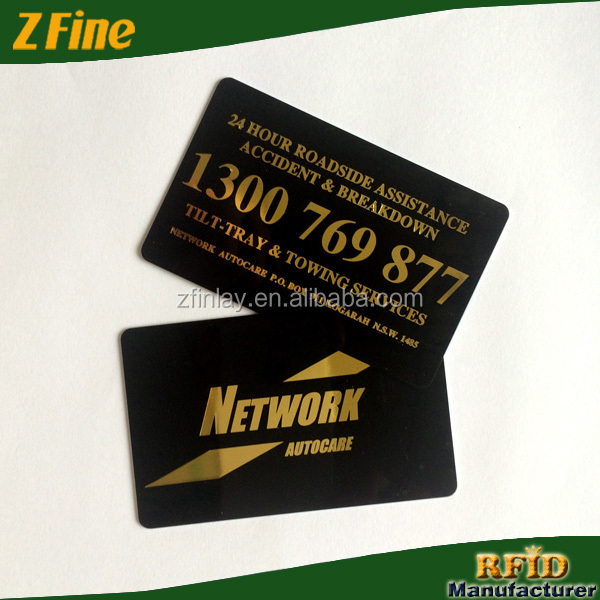Gold stamping rfid business cardfoil business cardyoga for Rfid business cards