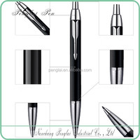 high quality push action metal cheap click parker pens made