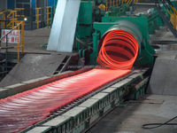 HOT rolling mill FOR bar / wire rod / profile ( L, U, H steel) / 12/20 Rolls Interchangeable Roll System