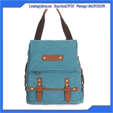 New Arrival Mulifunctional Custom Canvas School Backpack Bag for College Girls