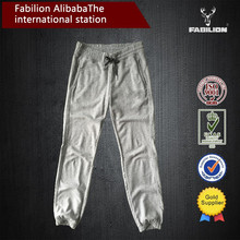 Spring and summer thin pants with brand logo boys 100% cotton casual harem ankle-tied pants