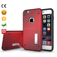 Kickstand Shockproof bulk for iphone 6plus case,wholesale cell phone bumper tup+pc accessories for iphone 6 plus case custom