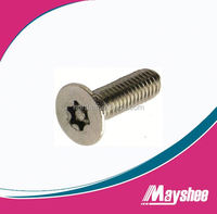 stainless steel pin torx countersunk security machine screws