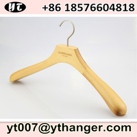 wood hangers for clothes with custom logo