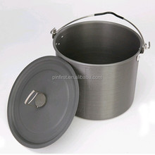 6.5L Camping Outdoor Picnic Hard Alumina Boiling Pot Boil Coffee Tea Cup Camping Stove Outdoor Survival Cook