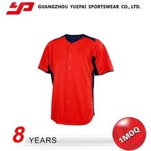 Excellent Quality New Design Charming High Quality sublimated custom baseball jersey wholesale