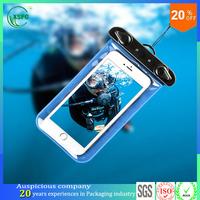New design factory direct sale recyclable zip lock plastic phone waterproof bag