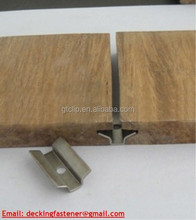 Plastic clip for outdoor wood deck
