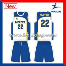 Healong Sublimation Printing Snap On Basketball Uniforms Wholesale