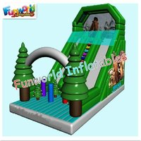 2012 NEW happy christmas inflatable super slide product for sale(sl-640)