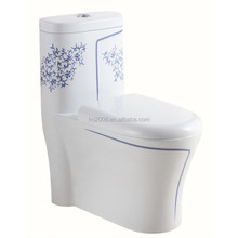 Blue and White Porcelain One piece Toilet