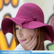 mulit Wide Brimmed Wool Bowler Fedora Beach Hat