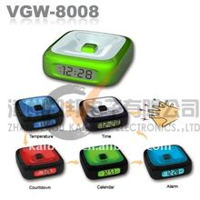 Color changing LCD table clock