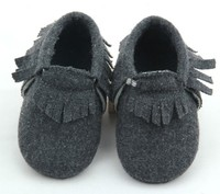Guangzhou manufacturer new fashion toddlers sheepskin moccasins