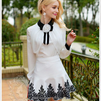 dabuwawa big girls blouse bow blouse for women ruffled blouses Ladies shirts