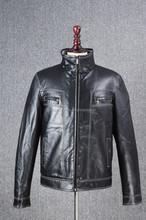2015 New Style Zipper Design High Quality Slim Man PU Jacket