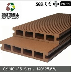 For garden,High quality wood plastic composite decking/new design WPC decking/ composite board