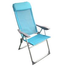 Folding adjustable aluminum reclining chair