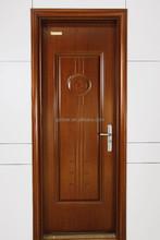 New wooden grain interior door for house design of powder coated room door