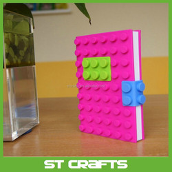 Custom paper fancy promotional silicone notebook cover A5 A6