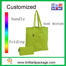 Solid color cheap non woven/nylon foldable shopping bag