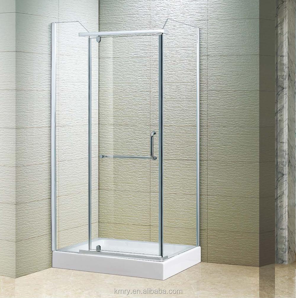 Foshan rectangle frameless pivot cheap shower door kk3029 for Discount frameless shower doors