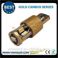 Professtional T10 wedge 3623 chiips 200lm gold error free no polarity white auto light light led car